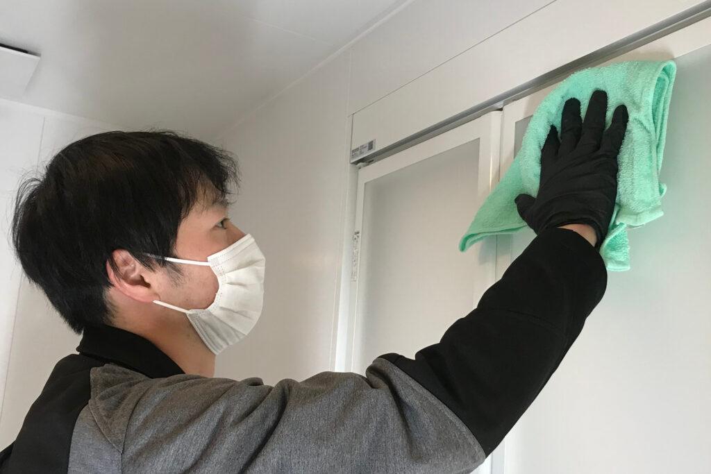 浴室クリーニング 作業の流れ6 拭き上げ・仕上げ